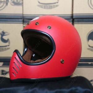 Mũ bảo hiểm RAW – Đỏ nhám