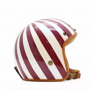 Mũ bảo hiểm BULLDOG HELI FIBERGLASS – Caro trắng đỏ
