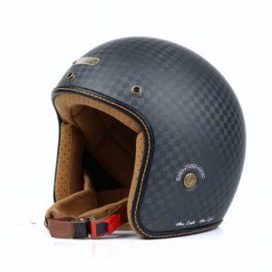 Mũ 3/4 Bulldog Heli Carbon (2019)